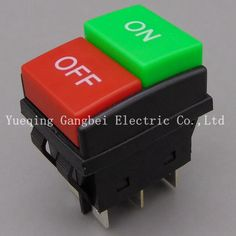 Rocker switch  JD03-C1 KCD4 button start stop control button double red   New type Superior quality