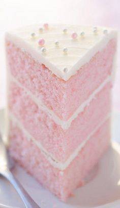 Pink Almond Party Cake
