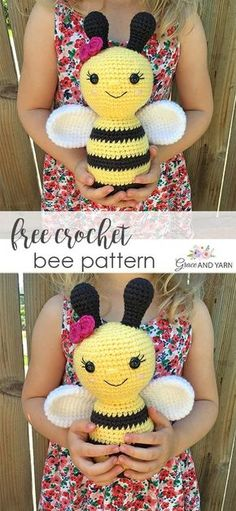 Crochet Bee Pattern Quick and easy free crochet bee pattern! The post Free Crochet Bee Pattern appeared first on Woman Casual. TheQuick and easy free crochet bee pattern! The post Free Crochet Bee Pattern appeared first on Woman Casual. Blog Crochet, Crochet Bee, Crochet Amigurumi Free Patterns, Crochet Animal Patterns, Stuffed Animal Patterns, Thread Crochet, Cute Crochet, Crochet Crafts, Crochet Dolls