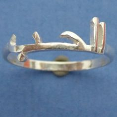 Silver Arabic Name Ring Jewelry  Custom Arabic Islamic by yhtanaff