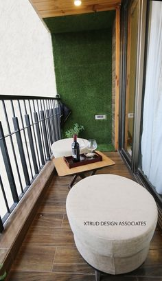 contemporary apartment in Mumbai: Balcony by Xtrud designs associates Room Colors, Colours, Contemporary Apartment, Room Interior Design, In Mumbai, Outdoor Furniture, Outdoor Decor, Inspireren, Balcony