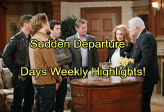 Days of Our Lives Spoilers: Week of October 24 Highlights – Sudden Departure - Explosive Conflicts and Shocking Returns