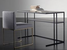 Metal secretary desk HARDY | Secretary desk - Meridiani