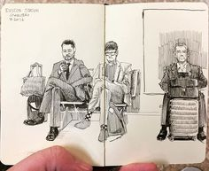 Euston Station commuters, London. I swear the guy in the middle is not Roy…