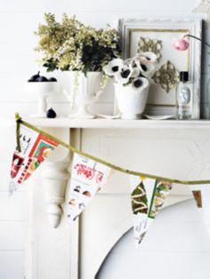 Christmas card bunting. Don't throw away your Christmas cards!