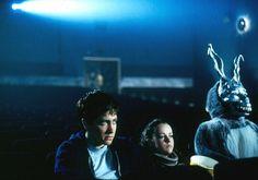 "Jake Gyllenhaal,Jena Malone and Frank in ""Donnie Darko"" One of the weirdest movies I've ever seen. Cult Movies, Iconic Movies, Great Movies, Horror Movies, Blockbuster Movies, Indie Movies, Action Movies, 10 Film, Film Serie"