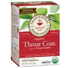 Traditional Medicinals Teas Organic Throat Coat Tea, 16 Bags by Traditional Medicinals -- Awesome products selected by Anna Churchill