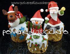 Tutorial: Babbo Natale, Pupazzo di neve, Renna in pasta di zucchero e panettone   Polvere di Zucchero:cake design e sugar art.Corsi decorazione torte,cupcakes e fiori.Shop on line