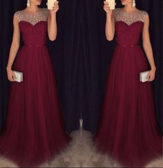 Sparkle Silver Gray Prom Dresses Tulle Long Top with Crystal Beadings Sheer Scoop Neck Celebrity Party Gowns for Graduation 2017 Grey Prom Dress, Tulle Prom Dress, Grad Dresses, Dresses For Teens, Ball Dresses, Cute Dresses, Beautiful Dresses, Bridesmaid Dresses, Formal Dresses