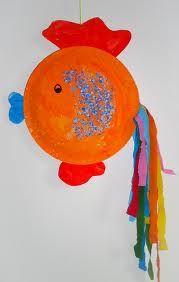 knutselen vissen - Google zoeken Ocean Theme Crafts, Ocean Themes, Animal Crafts For Kids, Art For Kids, Paper Plate Crafts, Paper Plates, Under The Sea Theme, Fish Crafts, Daycare Crafts