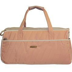 @Overstock - The Dickies 24-inch duffle is designed as a fashion item with superior quality for all use. It is water resitant with padded structured bottom and folds away easily for storage.      http://www.overstock.com/Luggage-Bags/Dickies-Pink-Blaze-24-Inch-Quilted-Duffle/6410109/product.html?CID=214117 $23.49