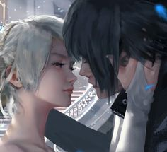 Final Fantasy XV Noctis Moon and Night by wlop Final Fantasy Xv Wallpapers, Noctis And Luna, Anime Amino, Noctis Lucis Caelum, Fantasy Posters, Fantasy Artwork, Painting Process, Animes Wallpapers, Fairy Tail