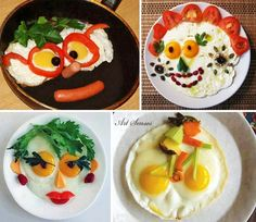 Decoration of fried eggs
