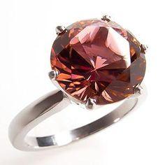 Natural Pink Tourmaline Solitaire Engagement Ring Platinum