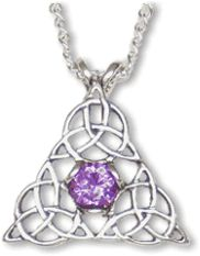 Triquetra Triangle with Amethyst Pendant