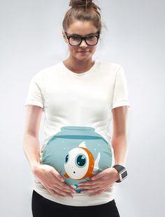 """Fish Bowl"" Maternity T-Shirt   Maternity T-Shirts - Mamagama Online Shop"