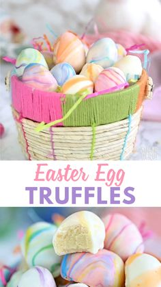 These easter egg truffles are such a cute easter candy! white chocolate truffles are dipped in a marbled candy coating to produce beautiful pastel truffles sugarhero eastercandy eastereggs truffles whitechocolate easter candy Sugar Eggs For Easter, Easter Candy, Easter Treats, Easter Eggs, Easter Food, Easter Gift, Easter Baking Ideas, Cute Easter Desserts, Easter Deserts