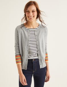 Buy Boden Grey Cassandra Cardigan from the Next UK online shop Pullover, Grey Cardigan, Uk Online, Cashmere Sweaters, Wardrobe Staples, Knitwear, Sweaters For Women, My Style, Stripes