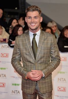 Pin for Later: All the Must-See Photos From the National TV Awards Red Carpet Kieron Richardson National Tv Awards, Kieron Richardson, Hollyoaks, Celebs, Celebrities, Celebrity Photos, Sexy Men, Gentleman, Tv Shows
