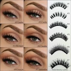Types of false eyelashes #makeup #beauty #mua