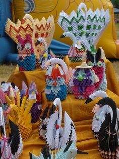 14. Wielki Piknik Charytatywny w Przemyślu - rękodzieło  #handcraft #origami #craft #birds