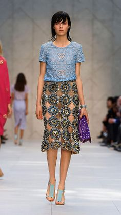Gem Embroidered Pencil Skirt   Burberry... if you have €11,000.00 to spare :)