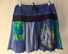 Custom Peasant-Style Skirt Upcycled from YOUR favorite T-shirts! A Line Skirts, Mini Skirts, Tea Length Skirt, Aqua Color, Gathered Skirt, Dance The Night Away, Skirt Fashion, Your Favorite, Perfect Fit