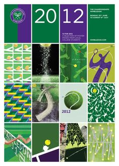 Students from Kingston University won an exclusive competition to design the official poster for the 2012 Wimbledon tennis championship. Wimbledon Tennis, Wimbledon Tickets, Wimbledon 2012, Tennis Party, Lawn Tennis, Tennis Tips, Tennis Cake, Beach Tennis, Tennis Posters