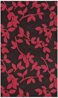 Leaves Brown Indoor Outdoor Rug -