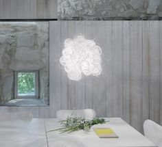 Blum || arturo alvarez - Handmande Unique Lighting || Its white finish increases…