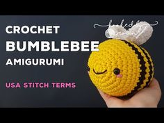Crochet along with me to make yourself a fat squishy oversized amigurumi bumble bee - super simple and easy enough for even a beginner to make. Are you ready. Crochet Bee, Chunky Crochet, Chunky Yarn, Crochet Patterns Amigurumi, Crochet Crafts, Single Crochet, Easy Crochet, Crochet Toys, Crochet Projects