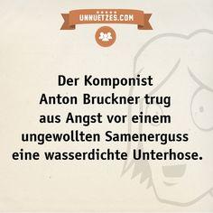 Mehr zum Leben von Anton Bruckner: http://www.unnuetzes.com/wissen/10693/anton-bruckner/