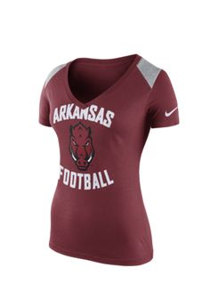 Nike Arkansas Razorbacks Womens Crimson Stadium Football V-Neck