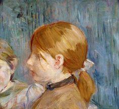 Jeannie's Head (Tete de Jeannie) by Berthe Morisot