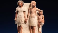 """Snapshot by Marsha Hill   """"You start saying, 'Who were they, and what are their personalities?'""""    Statue of two men and a boy that served as a domestic icon, ca. 1353–1336 B.C. New Kingdom, Amarna Period, Dynasty 18, reign of Akhenaten, Egypt. The Metropolitan Museum of Art, New York. Rogers Fund, 1911 (11.150.21)"""