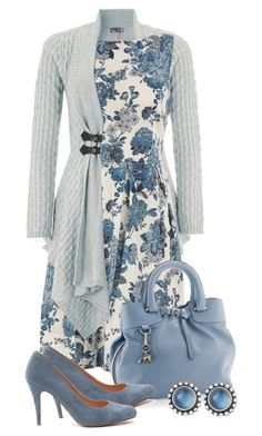 """blue roses"" by sagramora ❤ liked on Polyvore featuring Lipsy, Dorothy Perkins, Lois and Georg Jensen"