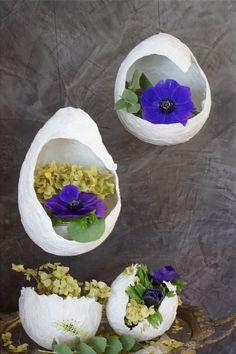 Schwebende Vasen *Papier DIY* Schwebende Vasen aus Papier DIY (Bildquelle: Living & Green)