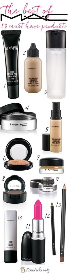 The Best of #MAC: The 13 #Makeup Products You Must Have! via 15 Minute Beauty