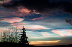美しくも妖しげ 冬に現れる「真珠母雲」に魅惑される | DDN JAPAN