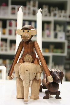Danish design. Kay Bojesen. Wooden animals.
