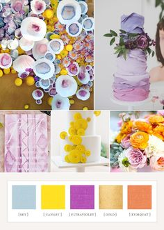 So, who's in the mood for a little color inspiration today? We always forget how fun these palettes are to dream up. With all the spring editorials to gush over as of late, the possibilities are endless. Quite a bit different than our last colorboard, yeah? (Of course gold is always a necessity.) If this year's spring wedding …