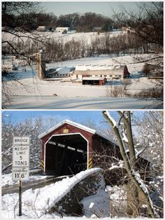 Bottom: Covered bridge in Lancaster County, PA. • Repinned by The Lancaster List • www.thelancasterlist.com