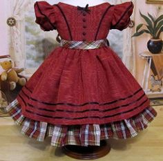 1850's Christmas Gown made to fit Cecile or Marie-Grace | by Keepersdollyduds