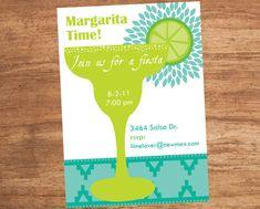 Margarita Fiesta Custom Printable Party Invitation