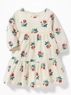 Floral Tiered Swiss-Dot Dress for Baby -- I wish this came in my size so we can match?? Mommy and me outfits hahah. (affiliate link)