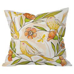 Pretty Bird Pillow.
