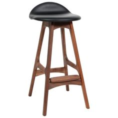 Erik Buck Teak Bar Stools Odense Møbler, Denmark, 1965 For Sale at Odense, Teak, Vintage Stool, Leather Bar Stools, Modern Stools, Furniture Factory, Chair Upholstery, Scandinavian Modern, Walnut Wood