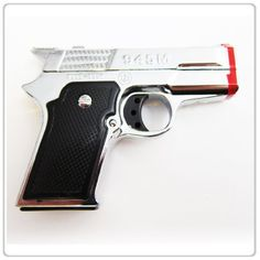 DIYJewelryDepot Silver Pistol Gun Twin Torch Lighter Refillable Cigar Cigarette Stove Miniature Lighters *** You can get more details by clicking on the image.
