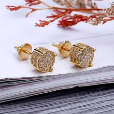 MISSFOX Hiphop Europe Fashion Women's Earrings Gold Plated Male Earring Cubic Zirconia Bijoux Piercing Male Earring Gifts Outfit Accessories From Touchy Style. Simple Earrings, Women's Earrings, Charm Jewelry, Jewelry Gifts, Jewellery, Jewelry Trends 2018, How To Clean Gold, Clean Gold Jewelry, Copper Jewelry