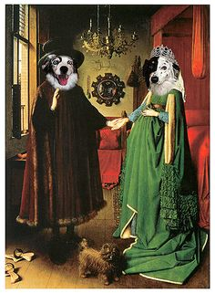 TWO Pet Portrait Wedding of Arnolfini by Jan by RenaissancePet